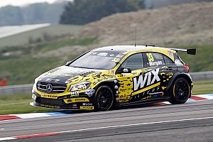 BTCC Race report Thruxton BTCC: Morgan wins shortened Race 1 amid tyre drama