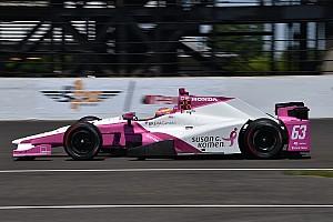 IndyCar Breaking news Rear wing endfence failure blamed for Mann's crash