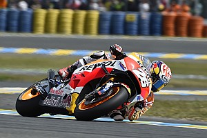 MotoGP Practice report Marquez and Pedrosa begin working on setup in mixed conditions at Mugello