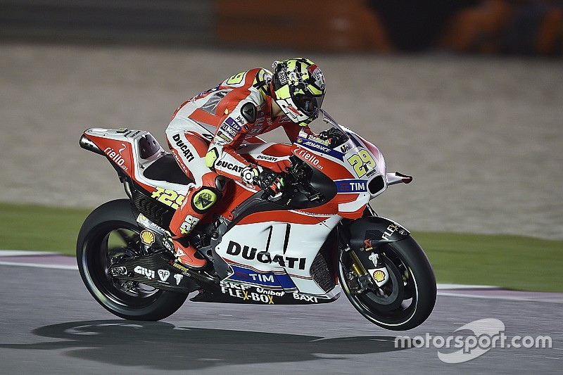 Iannone third, Dovizioso ninth after first day of free practice action at Losail