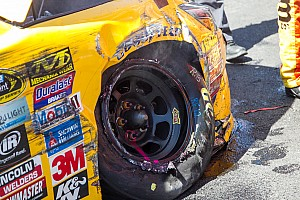 NASCAR Sprint Cup Breaking news Tire issues leave Gibbs and Goodyear searching for answers