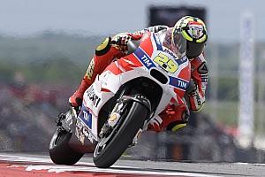 MotoGP Practice report Austin MotoGP: Lorenzo crashes out, as Iannone tops warm-up
