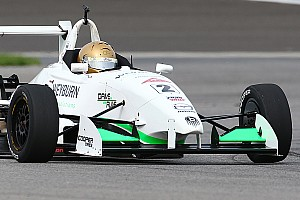USF2000 Race report Thompson wins seven-lap sprint to the checkers