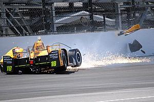 IndyCar Breaking news Spencer Pigot crash halts Wednesday Indy 500 practice - video