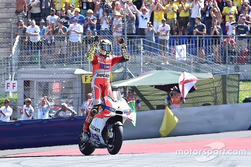 MotoGPオーストリア決勝:ドゥカティ1-2で圧勝。イアンノーネ初優勝