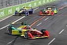 Formula E Di Grassi celebrates his 7th podium of the season