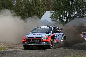 WRC Race report Hyundai Motorsport drivers in close fight to the finish in Rally Finland