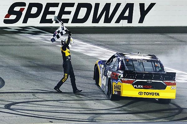 NASCAR XFINITY Erik Jones powers to NASCAR Xfinity win at Iowa
