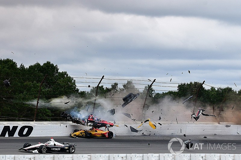 El impactante accidente en Indy Car