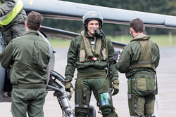 Marco Sorensen with a French Air Force fighter pilot ridealong