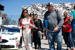 Danica Patrick, Stewart-Haas Racing Chevrolet signing autographs