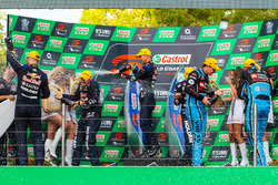 Podium: race winners Shane van Gisbergen, Alexandre Prémat, Triple Eight Race Engineering Holden, second place Scott McLaughlin, David Wall, Garry Rogers Motorsport Volvo, third place Jamie Whincup , Paul Dumbrell, Triple Eight Race Engineering Holden