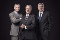 Sean Bratches, Geschäftsführer, Kommerzielle Operationen; Chase Carey, Vorstand von Formula 1; Ross Brawn, Geschäftsführer, Motorsport