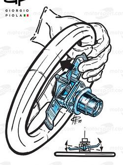 Ferrari 640 steering wheel