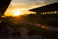 GP2 Photos - the sun sets over the GP2 paddock
