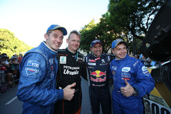 Gerard De Rooy, Team de Rooy; Stéphane Peterhansel; Peugeot Sport and Dmitry Sotnikov with Eduard Nikolaev