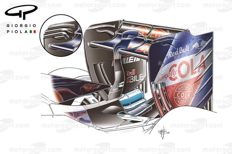 Toro Rosso STR11 rear wing, Sochi