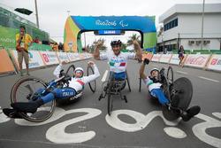 Alex Zanardi with the italian team