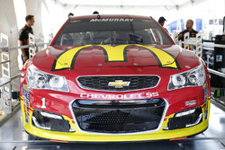 The car of Jamie McMurray, Chip Ganassi Racing Chevrolet goes through inspection