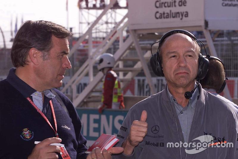 Giorgio Piola with Jo Ramírez, McLaren