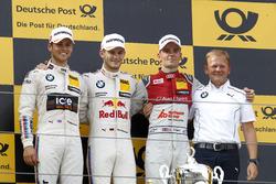 Podium: Race winner Marco Wittmann, BMW Team RMG, BMW M4 DTM; second place Tom Blomqvist, BMW Team RBM, BMW M4 DTM; third place Jamie Green, Audi Sport Team Rosberg, Audi RS 5 DTM; Stefan Reinhold, BMW Team RMG
