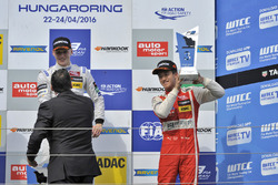 Podium: Winner Maximilian Günther, Prema Powerteam Dallara F312 – Mercedes-Benz; third place Guanyu Zhou, Motopark Dallara F312 – Volkswagen