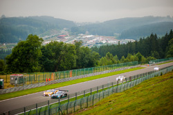 #57 Black Falcon, Mercedes-AMG GT3: Adam Christodoulou, Hubert Haupt, Andreas Simonsen; #50 AF Corse, Ferrari 488 GT3: Pasin Lathouras, Michele Rugolo, Alessandro Pier Guidi
