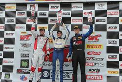 Podium Porsche GT3: first place #17 Global Motorsports Group Porsche 911 GT3 Cup: Alec Udell, second place #20 TruSpeed Autosport Porsche 911 GT3 Cup: Sloan Urry, third place #00 Motorsports Promotions Porsche 911 GT3 Cup: Corey Fergus