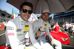 Mike Rockenfeller, Audi Sport Team Phoenix, Audi RS 5 DTM and Timo Scheider, Audi Sport Team Phoenix, Audi RS 5 DTM