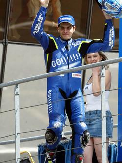Podium: race winner Sete Gibernau, Telefónica Movistar Honda