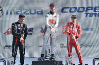 USF2000 Photos - Podium: winner Anthony Martin, second place Jordan Lloyd, third place Luke Gabin