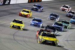 Carl Edwards, Joe Gibbs Racing Toyota lead the pack