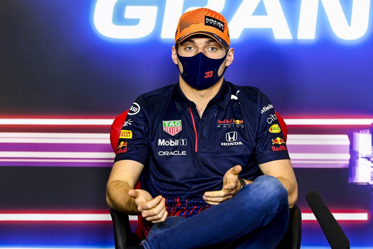 Max Verstappen, Red Bull Racing, en conferencia de prensa.