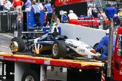 Kyle Kaiser, Juncos Racing crash