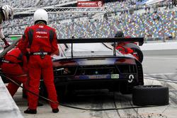 Pitstop for#9 Stevenson Motorsports Audi R8 LMS GT3: Boris Said, Kenny Habul, Tristan Vautier, Dion von Moltke