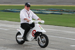 Chip Ganassi on his scooter