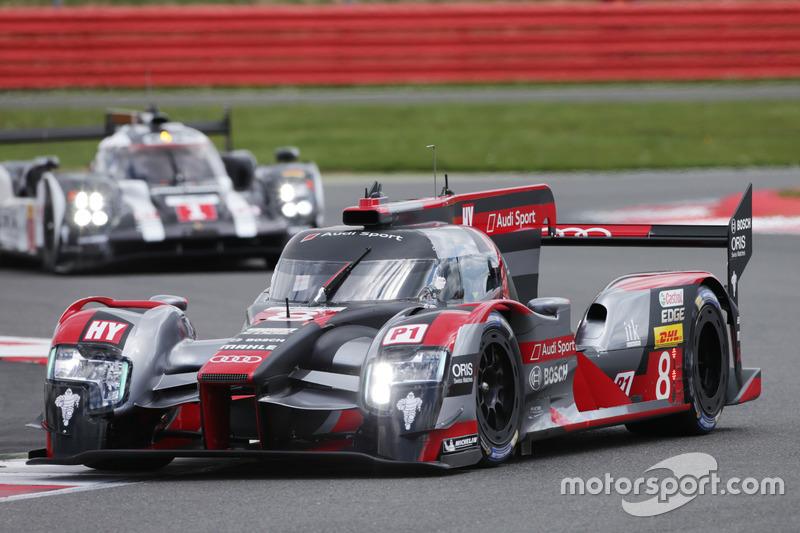 Lucas di Grassi, Loic Duval, Oliver Jarvis, #08 Audi Sport Team Joest Audi R18