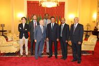 Automotive Photos - Jean Todt, FIA president with Ethiopian President Mulatu Teshome