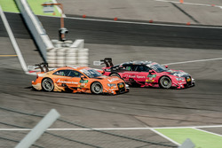 Miguel Molina, Audi Sport Team Abt Sportsline, Audi RS 5 DTM overtaking Jamie Green, Audi Sport Team Rosberg, Audi RS 5 DTM
