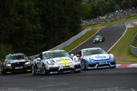VLN Fotos - Aurel Schöller, Bandar Alesayi, Fidel Leib, Porsche Cayman GT4 Clubsport
