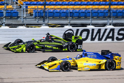 Charlie Kimball, Chip Ganassi Racing Chevrolet, Marco Andretti, Andretti Autosport Honda
