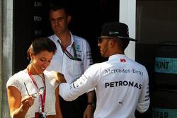 Lewis Hamilton, Mercedes AMG F1 with Nora Zetsche