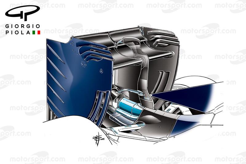 Toro Rosso STR11 rear wing, barcelona winter testings