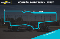 Formula E Photos - Montréal E-Prix track layout