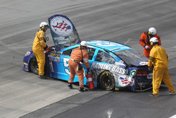 The car of Reed Sorenson, Chevrolet after a crash