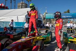 Race winner Lucas di Grassi, ABT Schaeffler Audi Sport with teammate in third place Daniel Abt, ABT Schaeffler Audi Sport