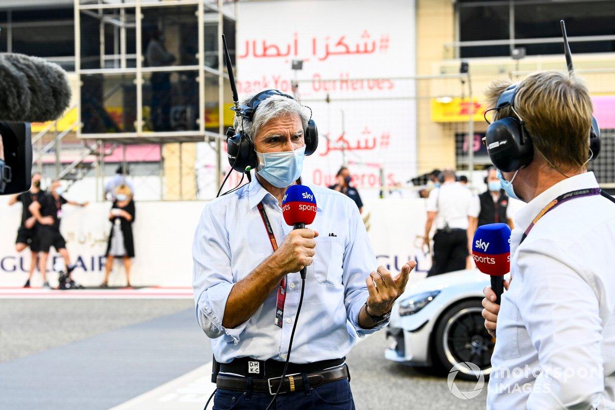 Damon Hill, Sky TV, y Simon Lazenby, Sky TV.
