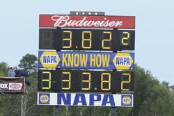Matt Hagan National record scoreboard