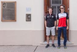 Bruno Senna, Mahindra Racing and Jérôme d'Ambrosio, Dragon Racing visit Juan Manuel Fangio's home and museum