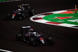 Jenson Button, McLaren MP4-31 follows team mate Fernando Alonso, McLaren MP4-31
